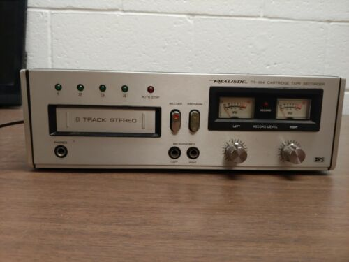Realistic TR-884 Vintage 8-Track Stereo Cartridge Tape Recorder and Player