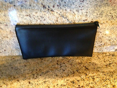 Deposit Bag Bank Pouch Zippered Safe Money Bag Organizer in Black ( New )