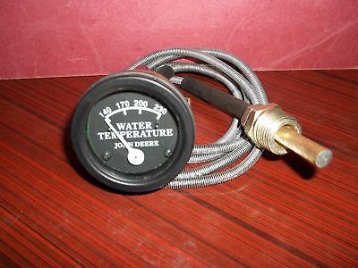 Tractor Temperature Gauge Set Replacement For John Deere-black