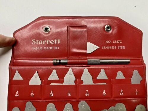 Starrett Radius Gage Set - No. S167C MINT S 167 C