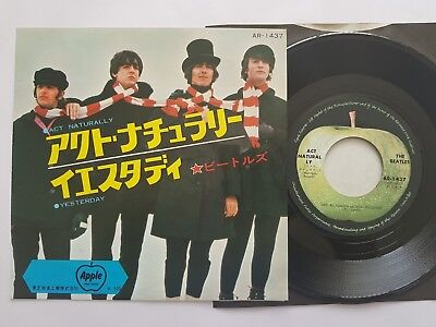 "BEATLES ACT NATURALLY / HELP   JAPAN 7"" vinyl 500 YEN segunda mano  Embacar hacia Spain"