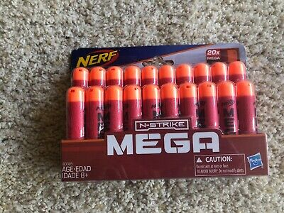 Toy Nerf Official Elite MEGA Whistler Darts 20Pack Refill Extra Ammo Gift NIP