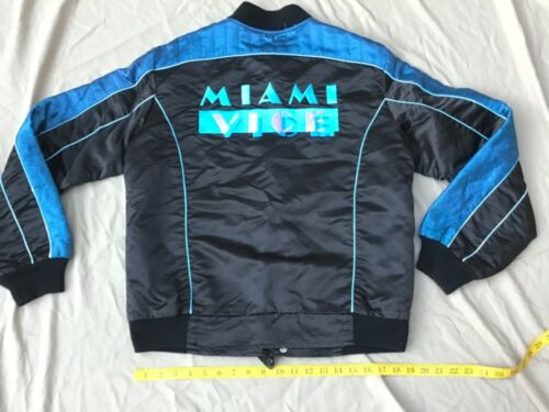 RARE Vintage MIAMI VICE Cast Member JACKET Staff Sport Coat Set BLACK BLUE +PINK