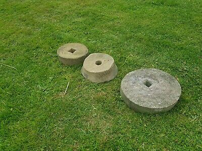3 Small Vintage Mill Grinding Stones