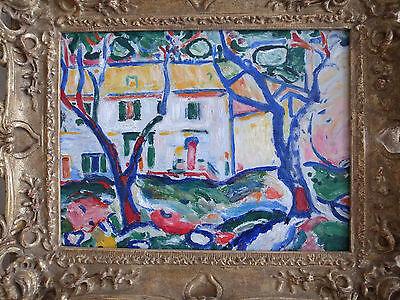 Rare Fauvist School Oil Painting (Braque: Lehman Collection--Met) 16 x 12