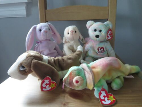 Ty Beanie Babies Batch of 5 collection, (lot #18),  Mint w/ Tag