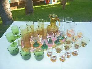 Vintage glasses with serving tray Newcastle Newcastle Area Preview
