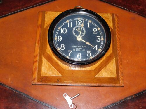 Seth Thomas Mark I Deck Clock US Navy 1941