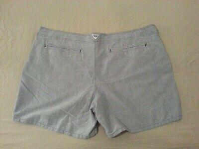 Womens New Columbia Sportswear Shorts 22w Grey Gray Khaki Plus Womens Plus Columbia Sportswear