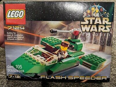 Vintage LEGO 7124 Star Wars FLASH SPEEDER Complete w/ Parts + Manual + Box !!