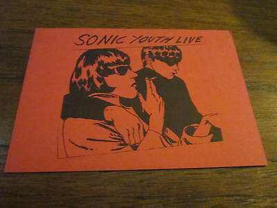 SONIC YOUTH 1991 GOO  RARE LIVE GIG CARD RAYMOND PETTIBONE ART BLACKFLAG