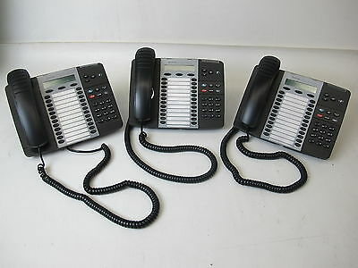 Lot Of 3 Mitel 5324 Voip Ip Phones 50005664 Refurbished 1 Year Warranty