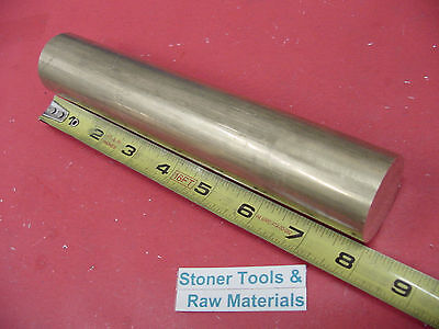 1-12 C360 Brass Round Rod 8 Long Solid 1.50 Od H02 Lathe Bar Stock