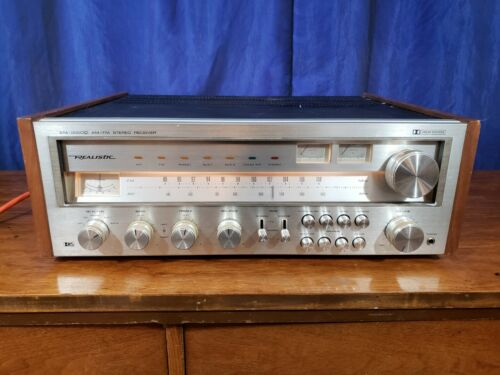 Vintage Realistic STA-2000D AM/FM Stereo Receiver Tested Working Needs TLC 75WPC