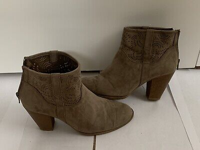 Qupid shoes size 8 womens brown heel boot
