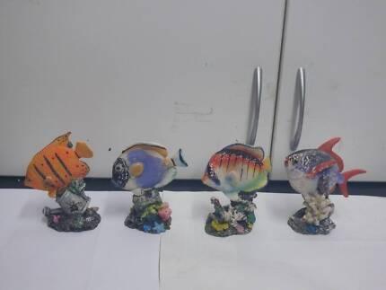 8 x decorative Colourful Fish