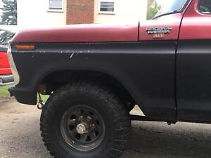 1979 bronco rolling chassis tub