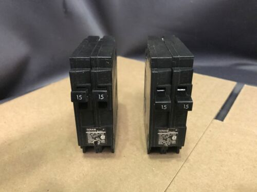 Gould 15 15 Amp Dual Circuit Breakers (Qty 2)  QT1-1515 120-240V  (NOS)
