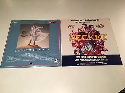 Peter O'Toole Historical Drama Laserdisc Lot of 2 Becket & Lawrence Of Arabia