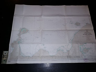 Antique Vintage US Navy Nautical Chart Aeronautical Map  Lolobau Island  Pacific Navy Chart Map