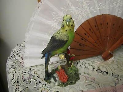 Parakeet Figurine / painted Resin Figure