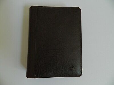 Franklin Covey Compact 112 Zip Binder - Brown Leather