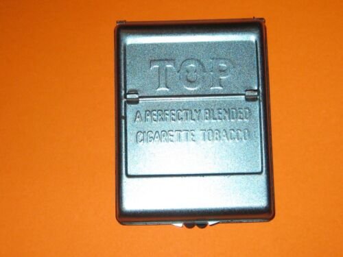Vintage Tin Top Brand Tobacco Cigarette Roller Maker Blue Metal