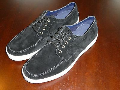 Cole Haan Bergen Moc Oxford Suede shoes black white new C12563 size 11.5 White Suede Oxford