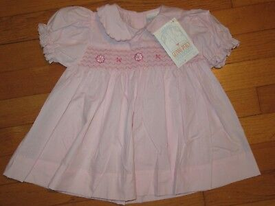 NWT BEBE Glynne Percy Smocked Pink Dress size 12 Months