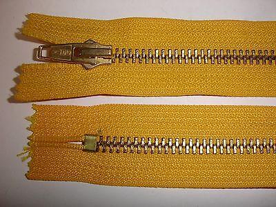 RV 330 Reißverschluß opti gelb 20cm, nicht teilbar 2 Stück