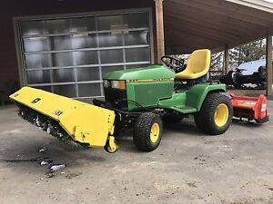 John Deere 445 tractor tiller broom