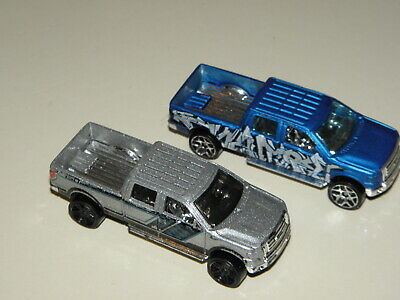 Hot Wheels 2009 Ford F 150  Trucks Blue Silver 1/64 Lot Of 2