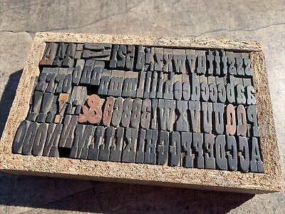 Antique Vanderburgh Wells Wood Type Letterpress 5 Pica Vandercook Press