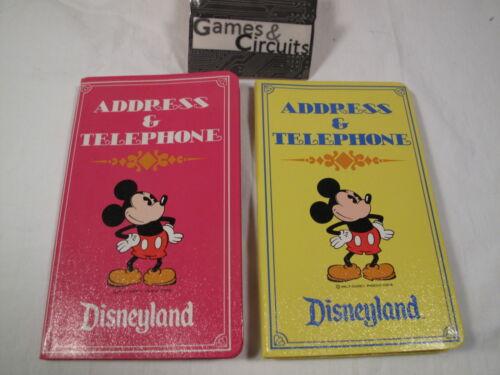 2 NEW Vintage Disneyland Address and Phone books, made in Japan - Walt Disney