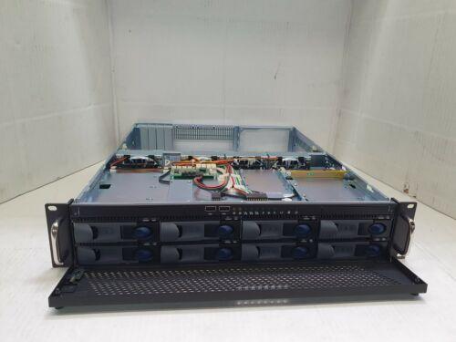2U Rackmount server case/ chassis w/ 8 x SATA hot swap bays, NEW !!!