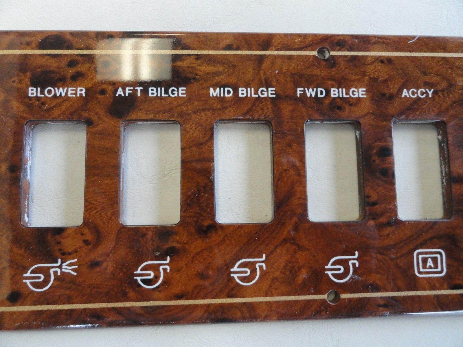 "PLASTIC WOODGRAIN BLANK DASH PANEL 20 1//2/"" X 7 5//8/"" MARINE BOAT"