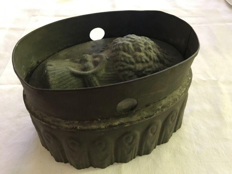 Primitive Vintage Tin Pudding Mold