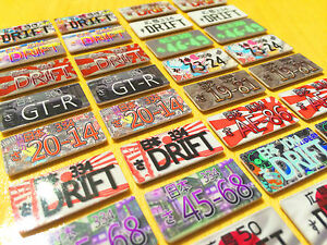 Fully Custom RC 1/10 Scale Number / License Plate for Drift Car / Design Service