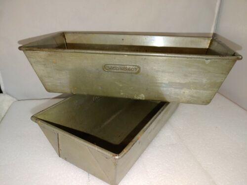 2 Vintage Ekco No. 607 Bread Pans Excellent Condition 10.5 x 5 x 3