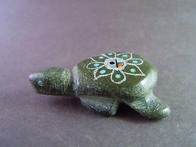 no longer carving Jeremy Lucero Santo Domingo green Turtle flower Sunface 04