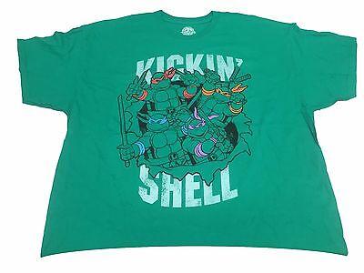 Teenage Mutant Ninja Turtles TMNT Kickin Shell Cartoon Men's T Shirt 3XL-5XL](Ninja Turtles Shell Shirt)