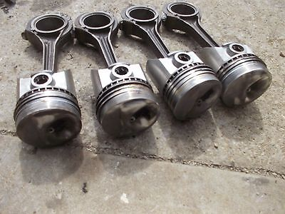 Farmall 300 350 Super H Tractor 4 Fire Crater Pistons Rings Rods Piston Ring