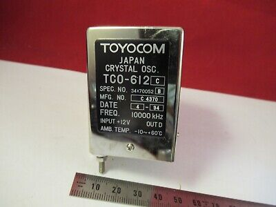 Toyocom 10 Mhz Quartz Precision Frequency Standard Oscillator As Is 13-a-17