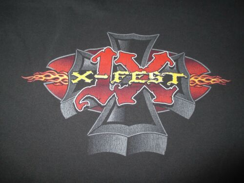 2004 X-FEST 1X (XL) T-Shirt PUDDLE OF MUDD SHINEDOWN BREAKING BENJAMIN SALIVA