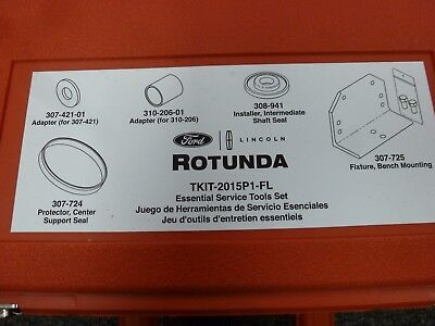 Ford Rotunda TKIT-2015P1-FL Warranty Tools & 6F15 Special Service Tool Set