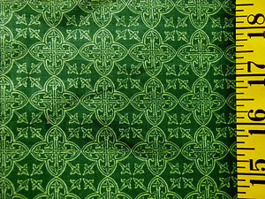 CELTIC MEDALLIONS ST. PATRICKS' DAY PRINT 100% COTTON FABRIC BY THE 1/2 YARD