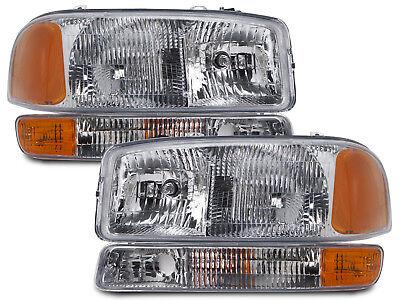 - Headlights Headlamps & Corners Set Kit Fits 99-06 GMC Sierra/00-06 Yukon Truck