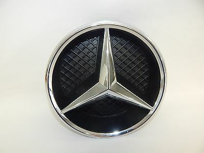 New OEM 11-17 Mercedes-Benz Front Grill Grille Emblem & Housing Badge Beam Star