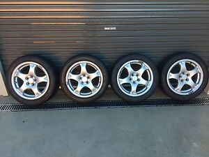 Dunlop Direzza 036 205/50/16 semi slick (hard) on 98 GC8 wrx rims Tumut Tumut Area Preview