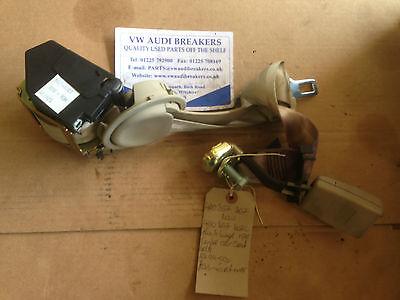 AUDI A8 D2 99-03 CENTRE MIDDLE REAR TWIST BEIGE SEAT BELT 4D0857807 4D0857807C